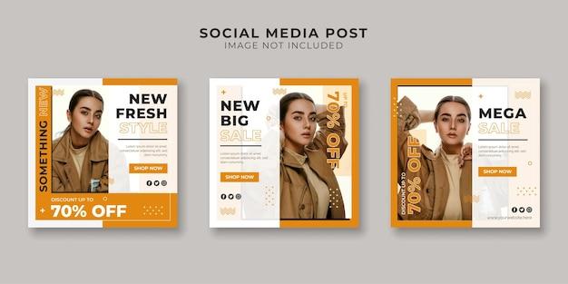 Modewinkel social media postsjabloon