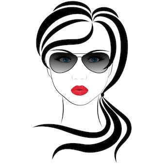 Modieus meisje, vectorillustraties op een witte achtergrond