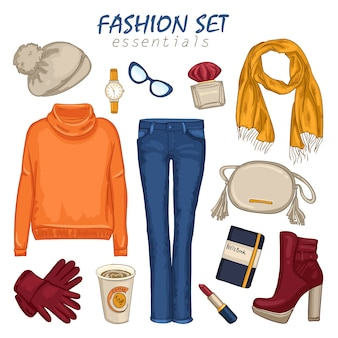 Modieuze kleding meisje samenstelling