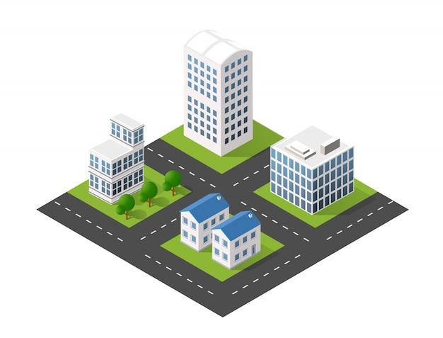 Moduleblok stad stadsgezicht