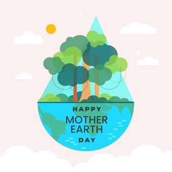 Moeder aarde dag illustratie