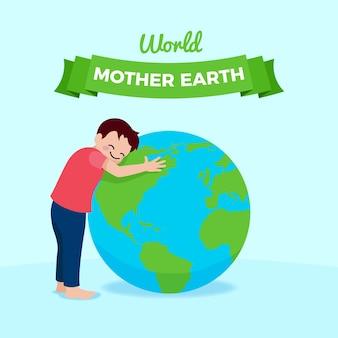 Moeder aarde dag plat ontwerp