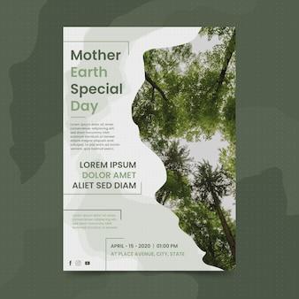 Moeder aarde dag sjabloon