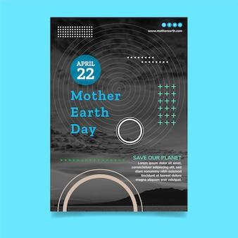 Moeder aarde dag verticale flyer-sjabloon