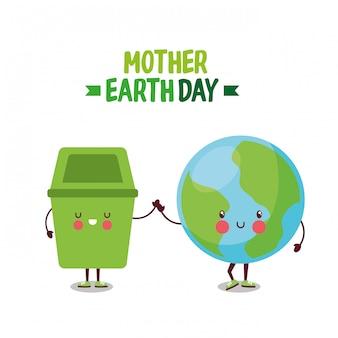 Moeder aarde planeet dag.