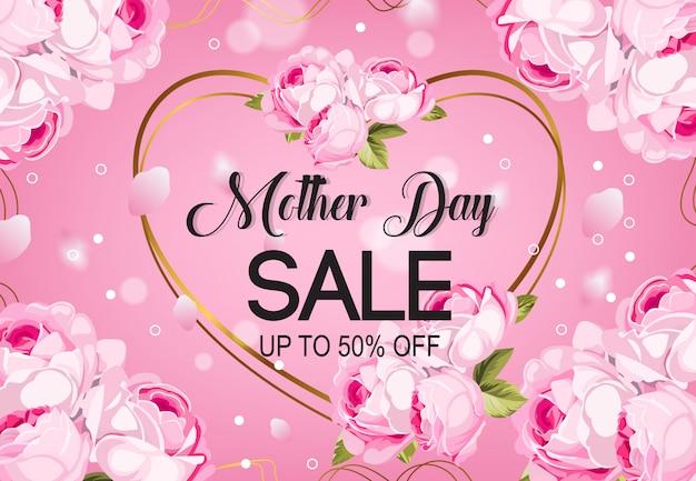 Moeder dag verkoop achtergrond vector