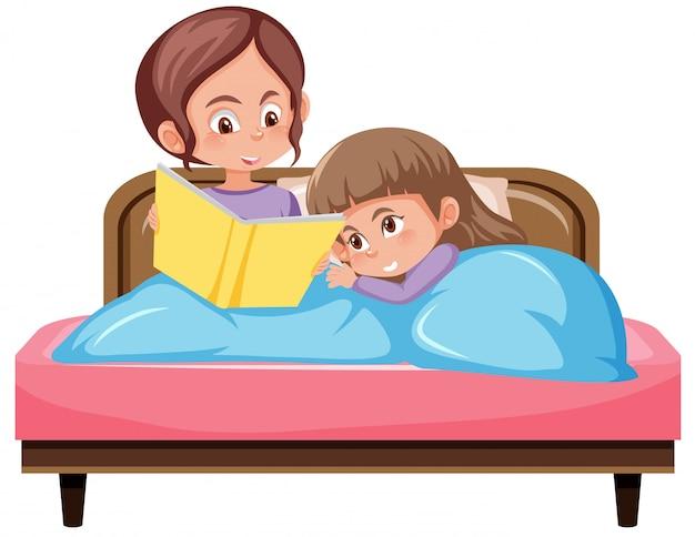 Moeder en gelukkig kind op witte achtergrond