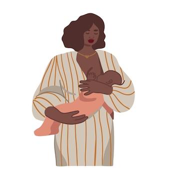 Moeder geeft haar baby borstvoeding