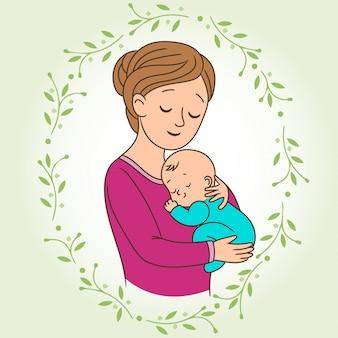 Moeder met een baby