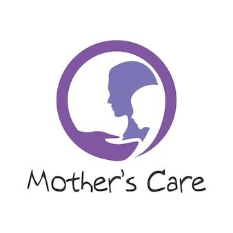 Moeder zorg logo sjabloon
