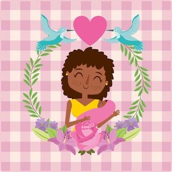 Moederdag dag kaart moederdag