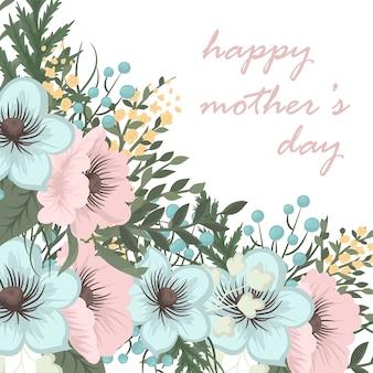 Moederdag wenskaart met bloesem bloemen