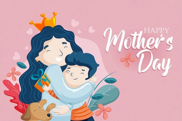 Moeders dag-moeder en zoon