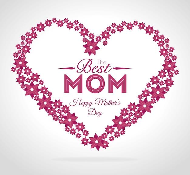 Moedersdag ontwerp, vectorillustratie.