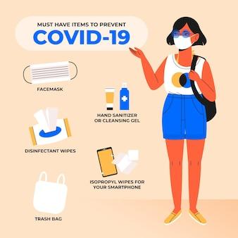 Moet items hebben om coronavirus te voorkomen