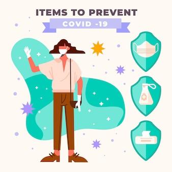 Moet items hebben om covid-19 te voorkomen