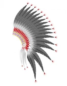 Mohawk-hoed van de amerikaanse indianen.