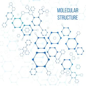 Moleculaire structuur of moleculaire structurele coderingsillustratie