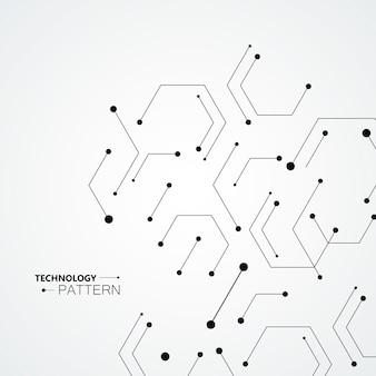 Moleculaire structuur patroon achtergrond. technologie