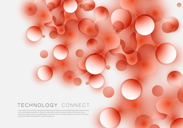Moleculaire verbindingen verbonden in willekeurige volgorde achtergrond voor technologie en toekomst