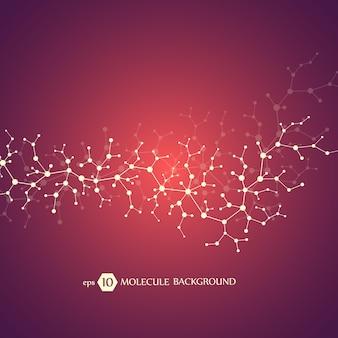 Moleculen concept van neuronen en zenuwstelsel.