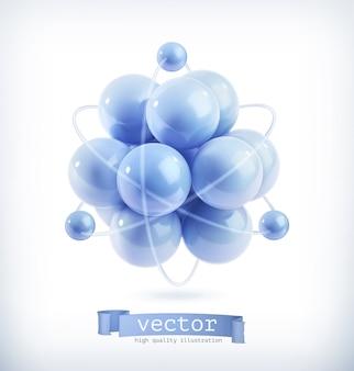 Molecuul, vectorillustratie