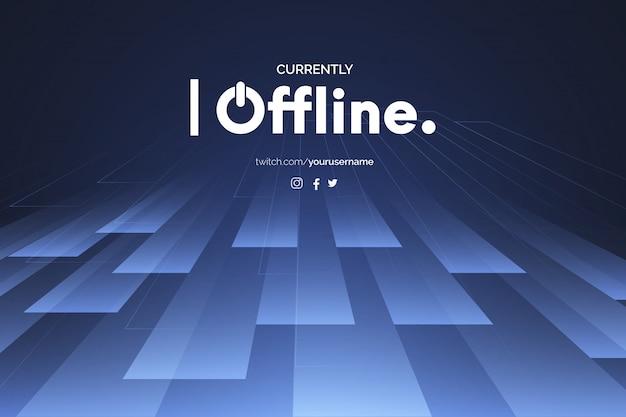 Momenteel offline achtergrond met abstracte 3d-vormen ontwerpsjabloon