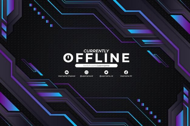 Momenteel offline blauwe achtergrondstijl