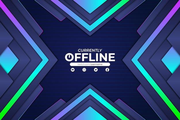 Momenteel offline rgb-achtergrondstijl