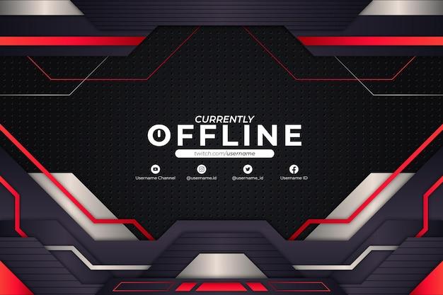 Momenteel offline rode achtergrondstijl