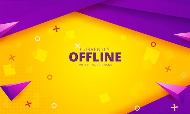 Momenteel offline twitch-achtergrondsjabloon