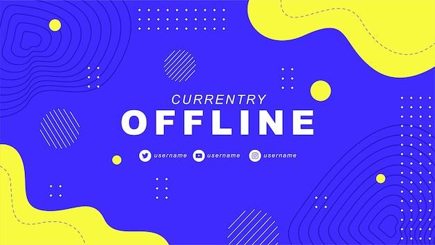 Momenteel offline twitch-banner