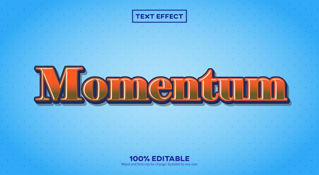 Momentum 3d-teksteffect