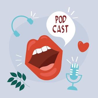 Mond schreeuwende podcast