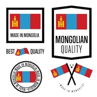 Mongolië kwaliteitslabel set