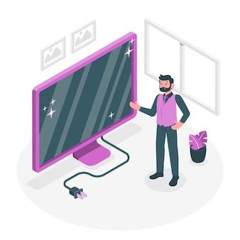Monitor concept illustratie