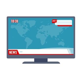 Monitor display met nieuws