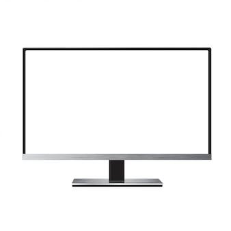 Monitor led tv geïsoleerd op wit