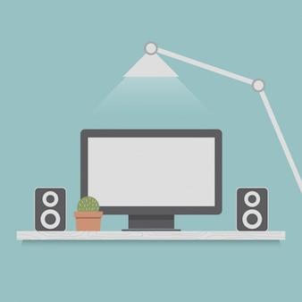 Monitor met luidsprekers