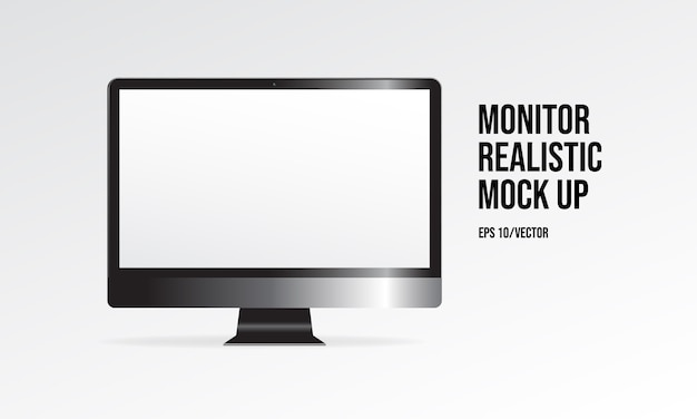 Monitor realistische mock-up
