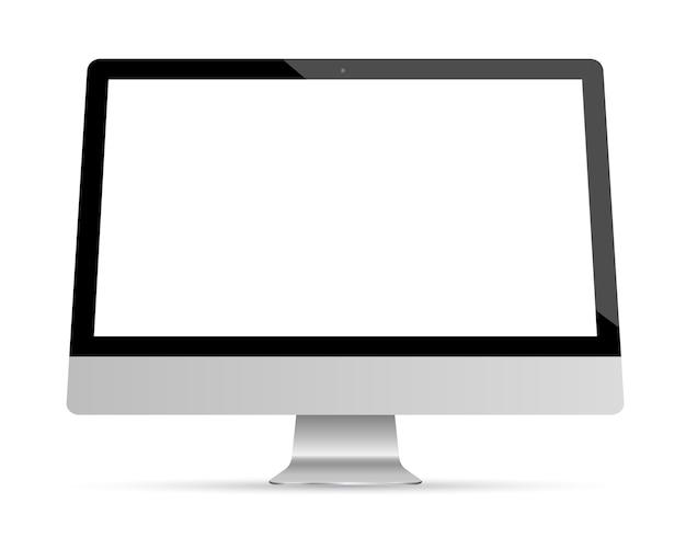 Monitor set mockup vector.