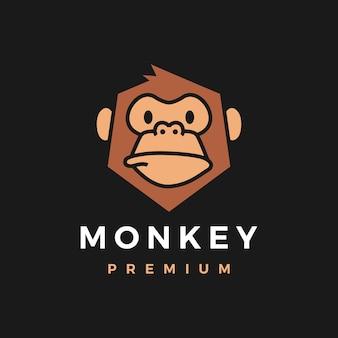 Monkey chimp gorilla logo icoon