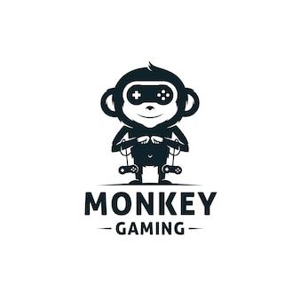 Monkey games logo sjabloon