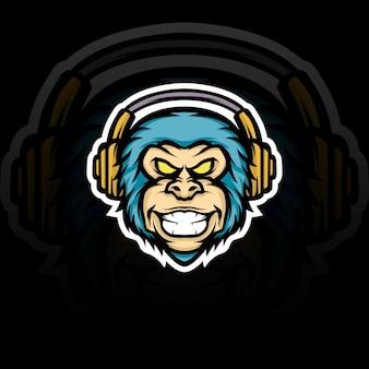 Monkey gaming mascotte