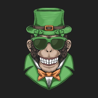 Monkey head voor st. patrick's day