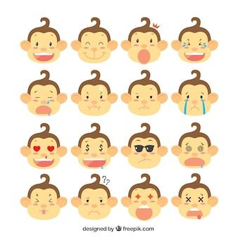 Monkey selectie met gezichtsuitdrukkingen