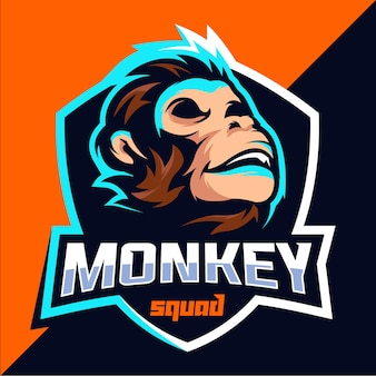 Monkey squad esport logo ontwerp