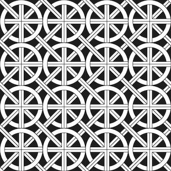 Monochromatisch etnisch naadloos patroon