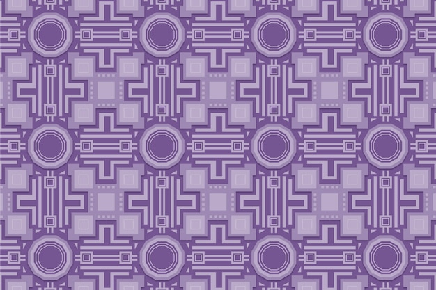 Monochromatisch paars patroon met vormen