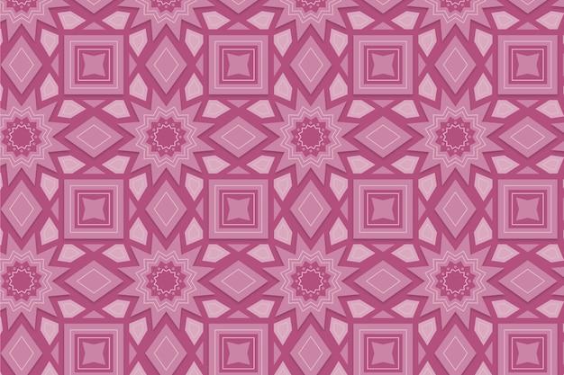 Monochromatisch roze patroon met vormen